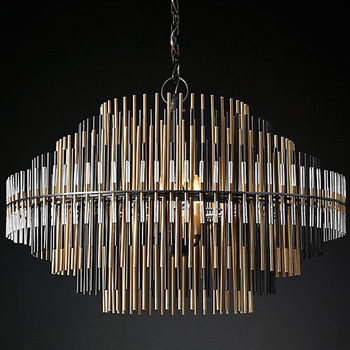 Contemporary golden metal led chandeliers pendant lights lamp factory