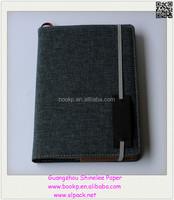 96 sheets custom cloth fabric cover travel journal calendar planner notebook
