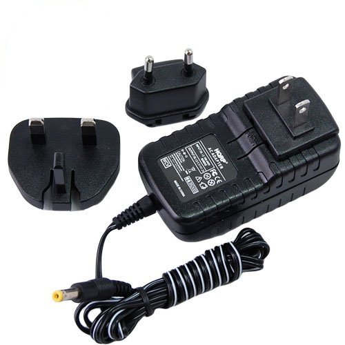 HQRP Compact Wall AC Power Adapter compatible with Panasonic PV-GS90, PV-GS90P, PV-GS90PC, VDR-D50, VDR-D50P, VDR-D50PC Camcorder plus HQRP Coaster