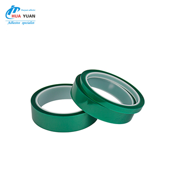 China supplier light green PET high temperature silicone adhesive masking tape