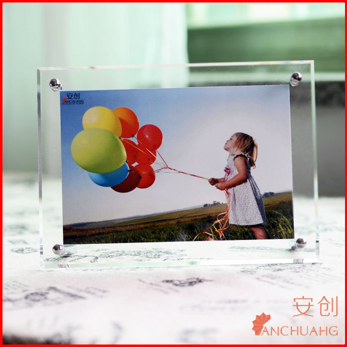 2014 new style acrylic photofunia/photo frame_clear acrylic photo frame cub
