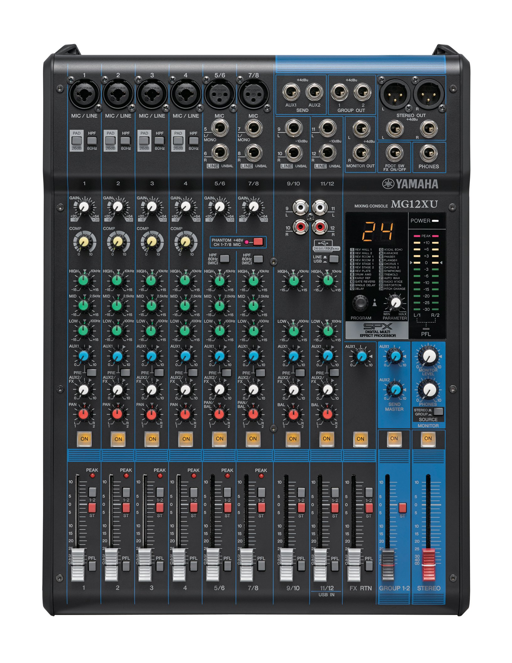 c701684925 Get Quotations · Yamaha MG12XU 12-Input 4-Bus Mixer with Effects