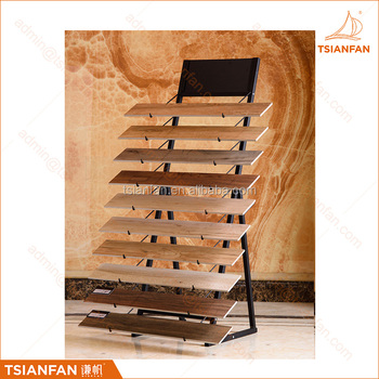 Simple firm metal display stand for marble&granite tile display rack