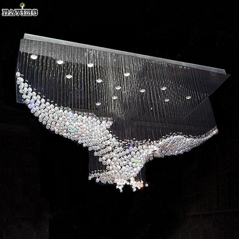 new eagles design luxury modern crystal chandelier lighting lustre hall led lights cristal lamp. Black Bedroom Furniture Sets. Home Design Ideas