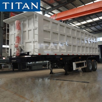 Titan 3 axle Hydraulic end dump truck side tipper semi trailer trailer for sale