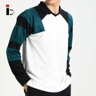 Cut and sew apparel china product long sleeve mens polo shirt