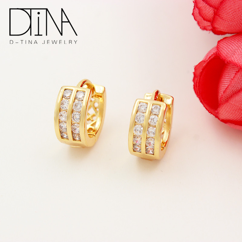 Cheap bulk wholesale earrings Romantic Authentic Sparkling Earrings Jewelry