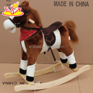 wholesale newly fashioned wooden decorative rocking horse hottest sale decorative rocking horse W16D071