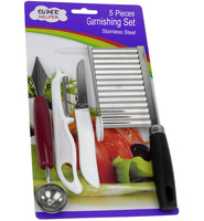 JK16108EB 5-piece Stainless Steel Vegetable Cutters and Fruit Carving Tools