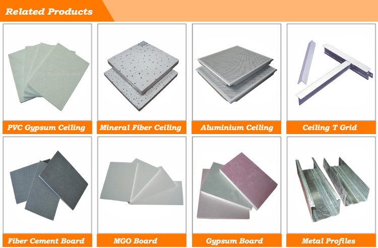 PVC Laminated Gypsum Board Ceiling Tiles