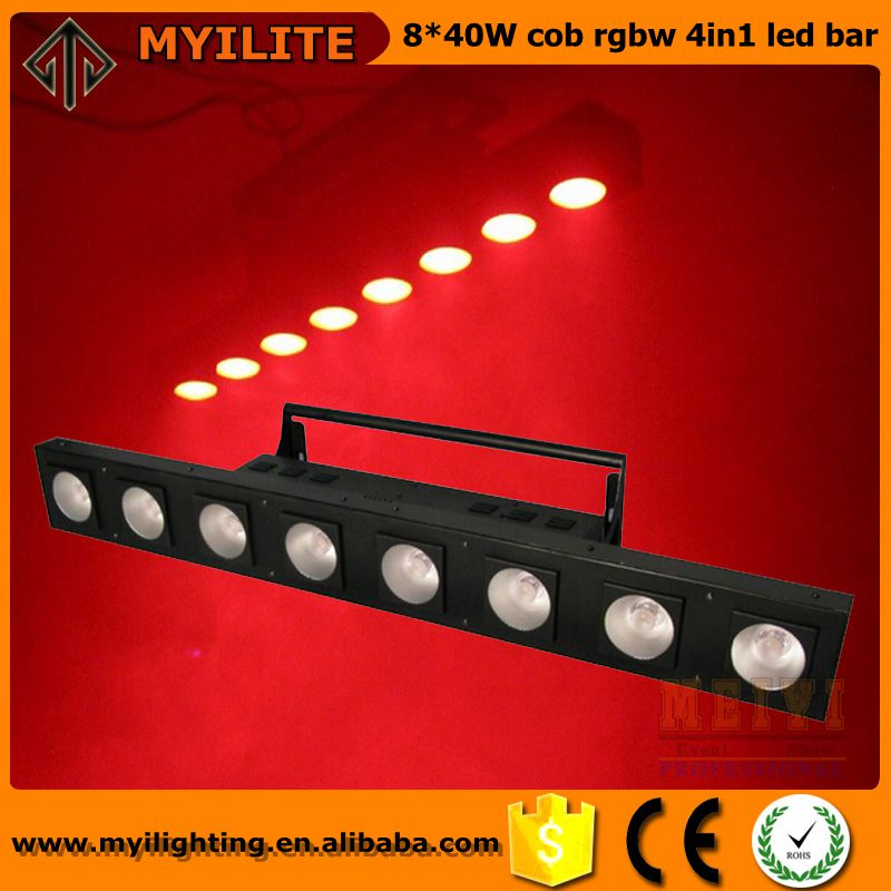 8 heads cob led wall washer 40W 4in1 cob led pixel bar for stage event bar