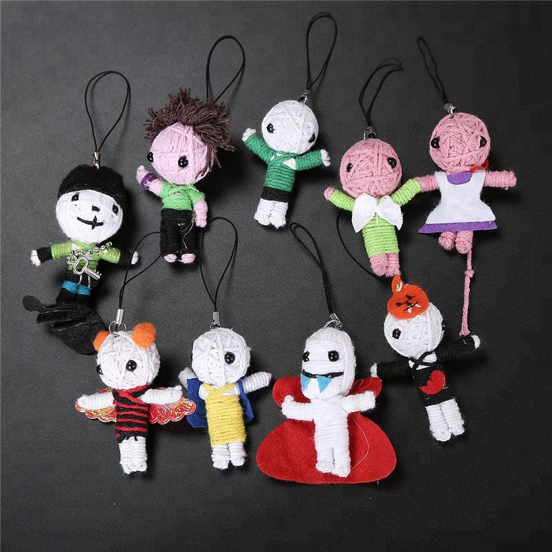 Wholesale High Quality Dog In the Basket With Keychain String Voodoo <strong>Dolls</strong>