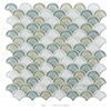 Premium Mixed Color Glossy Fish Scale Glass Mosaic Tiles