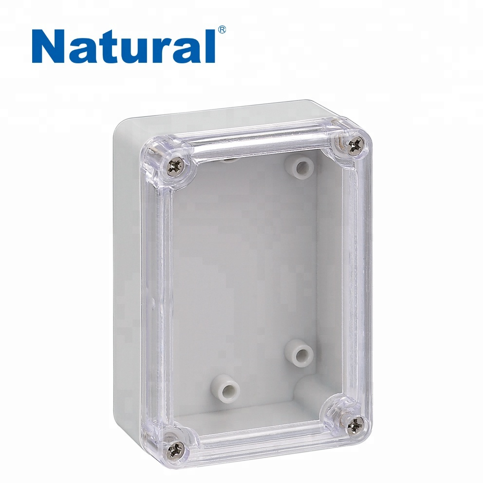 Nice Clear Transparent Cover Abs Material Ip66 Waterproof Plastic Distribution Box Electrical Junction Box 125*125*75mm With Ce Selected Material Connectors
