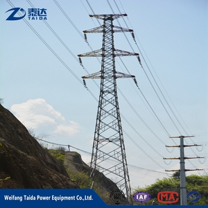 Alli baba Contractors Double Circuit 69kV Electric Power Tower for  Transmission Line