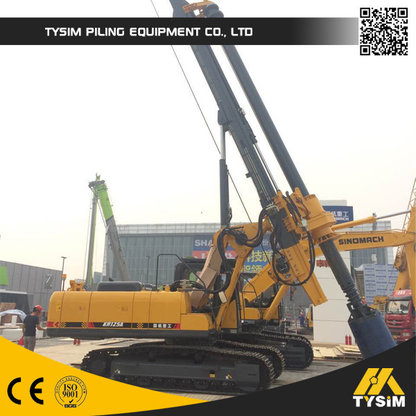 TYSIM Drilling 28m foundation pile machine KR80A Casagrande rotary drilling rig Mini piling rig