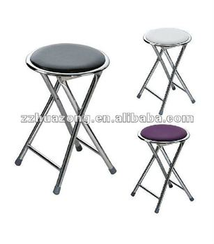 Incredible Round Folding Stool Seat In Black Purple And White Soft Padded Foldable Chair Buy Stool With Metal Base Portable Folding Seat Waterproof Folding Creativecarmelina Interior Chair Design Creativecarmelinacom