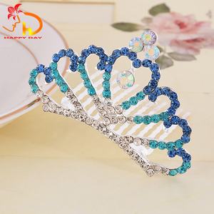 Best selling good quality fashion kids diamond head crowns