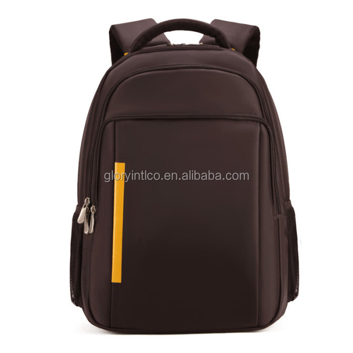 Business laptop backpack waterproof PU school computer bag for man