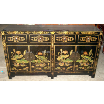 Chinese Antique Furniture Painted Cabinet - Buy Antique Furniture ...