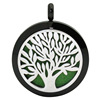 black + 30mm silver tree