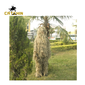 Desert Bionic Ghillie Suits Yowie sniper bird watch airsoft Camouflage Clothing jacket and pants