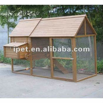 Large cheap outdoor 8ft wooden chicken coop for sale cc008 for Cheap chicken pens for sale