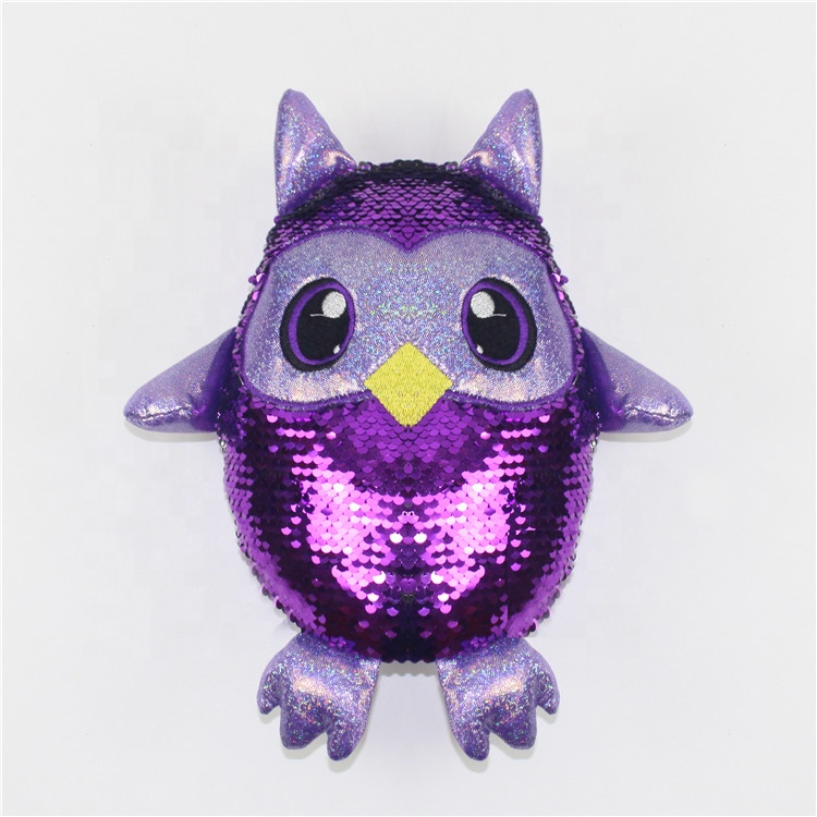 Decorative Magic Change Toy Flip Reversible Sequin Fabric Toy Soft <strong>Animal</strong>