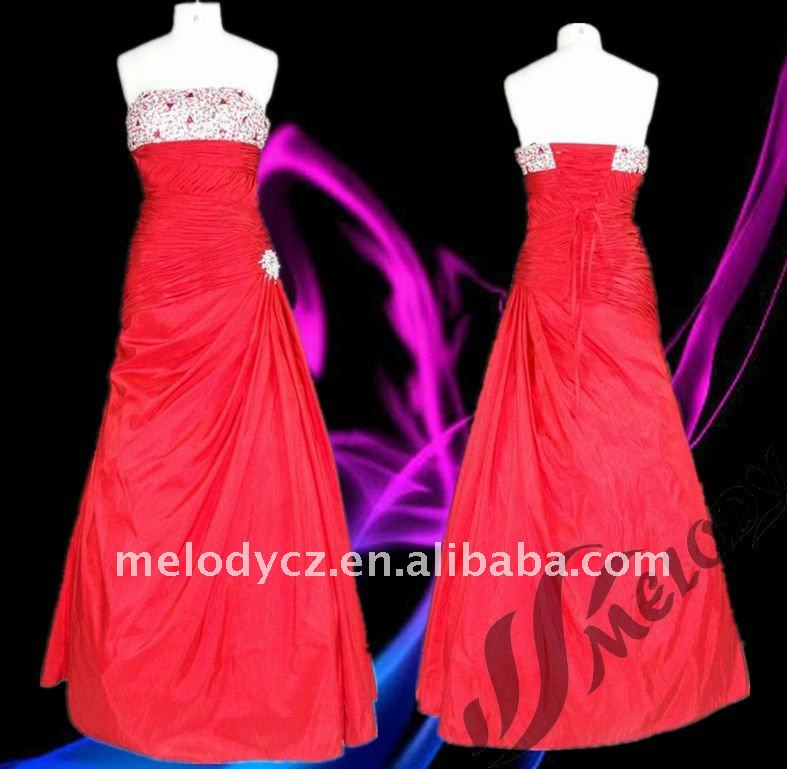 Wine red beaded chest taffeta off shoulder ruffled dresses night party for women