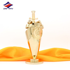 Longzhiyu 12years manufacturer custom acrylic horse trophy oscar trophy  award basketball golf trophy