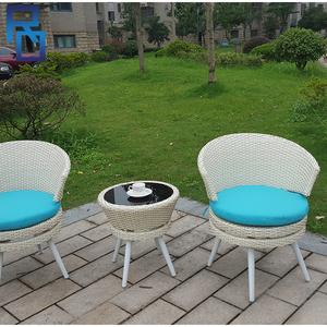 Rattan Table Patio Furniture Garden Arm Chair And Table Set