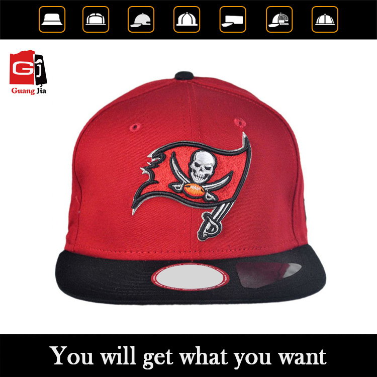 China Manufacturers High Quality Customised 3D Embroidery Snapnack Caps