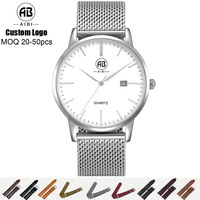 AIBI Gold Stylish Custom Stainless Steel Quartz Wrist Whatch Mens Watches