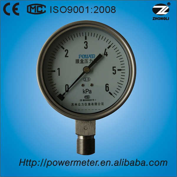 (YE100A) 100mm all stainless steel for recording pressure welding gauge