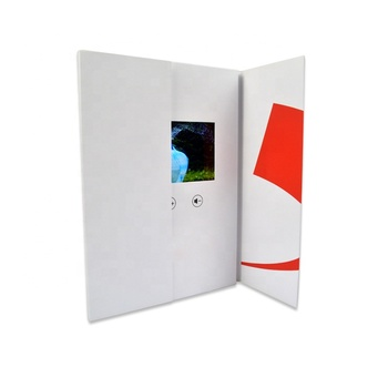 Best buy australia custom soft cover 4.3 inch lcd screen greeting cards video brochures with motion sensor