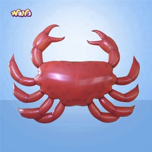 2018 hot selling advertising/promotional inflatable seafood/animal crab