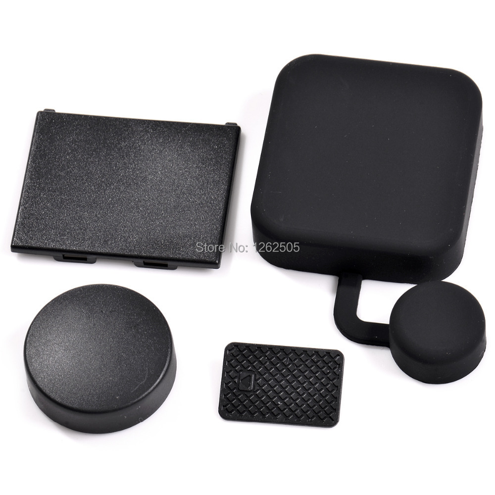 4 in1 Kit GoPro Accessories Back Door Cover+Battery Cover +Lens Cap +Camera Housing Cover Protector for GoPro HD Hero 3+ Camera