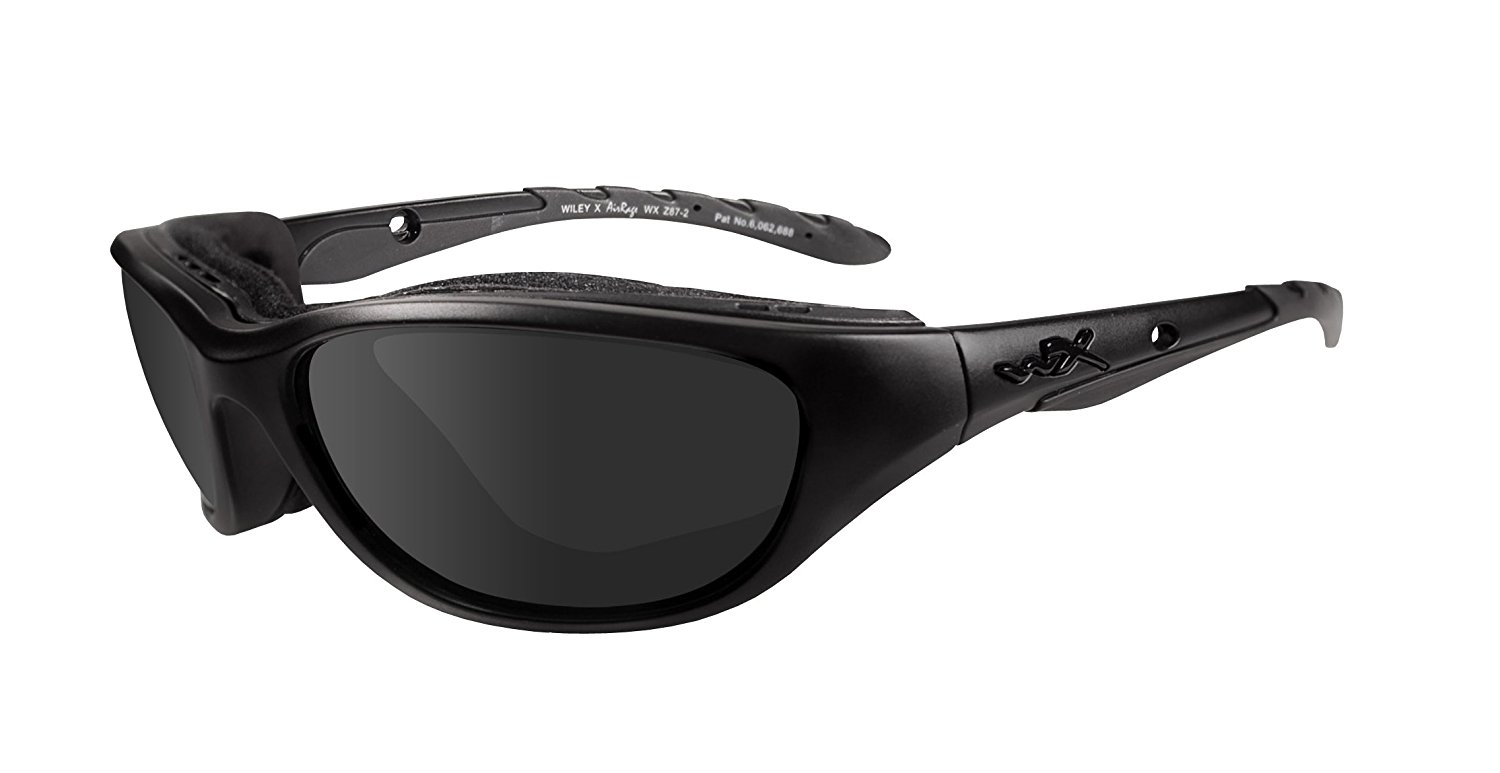 7a7c4c15b7 Wiley X Black Ops Airrage Climate Control Matte Black Frame - Smoke Grey  Lenses Sunglasses -