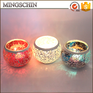 7 Colors Mosaic Sparkling Birthday Candle Holders
