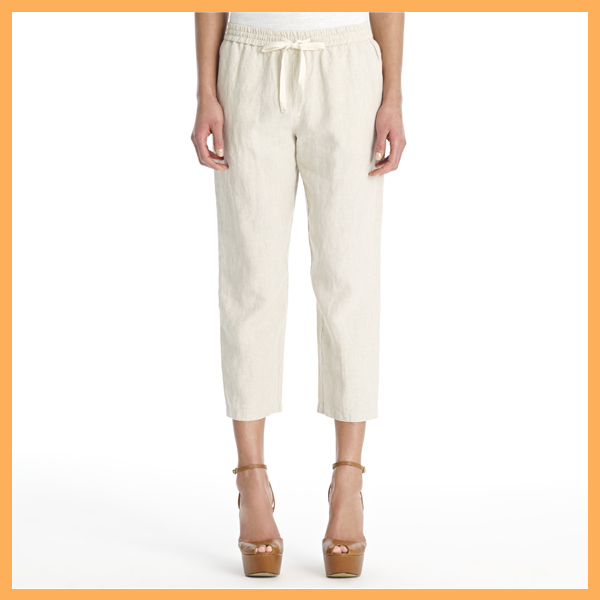 Casual ladies linen trousers