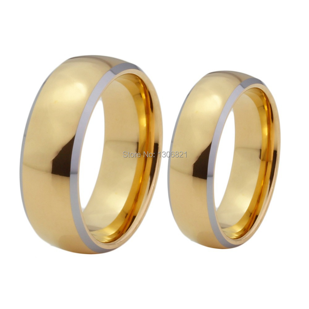 buy very nice mens and women tungsten wedding bands gold couple rings for. Black Bedroom Furniture Sets. Home Design Ideas