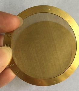 Customized brass edged weave wire mesh screen filter disc