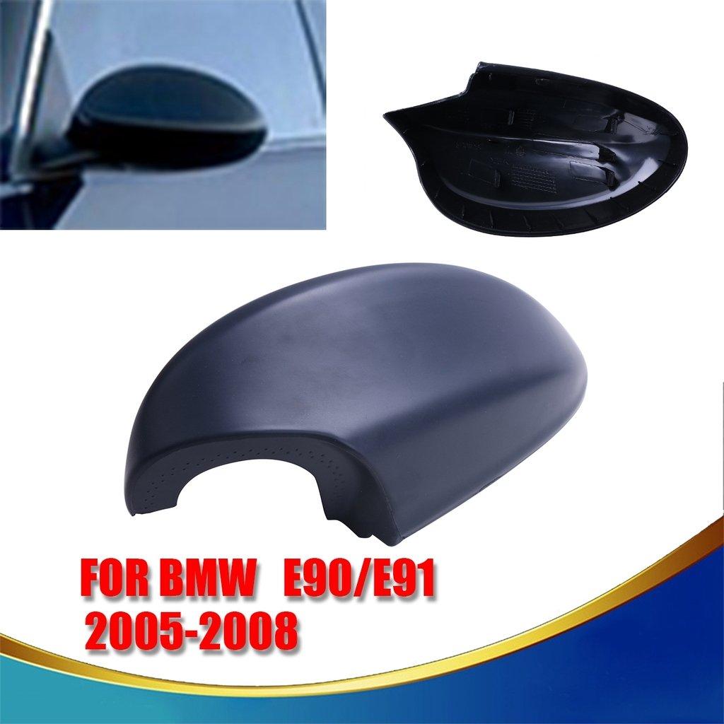 Left Side Black Rear View Mirror Cover For BMW 3-Series E90 E91 325i 328i 330i Sedan 2005-2008