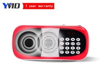 Portable fm radio mini mp3 player built in speaker