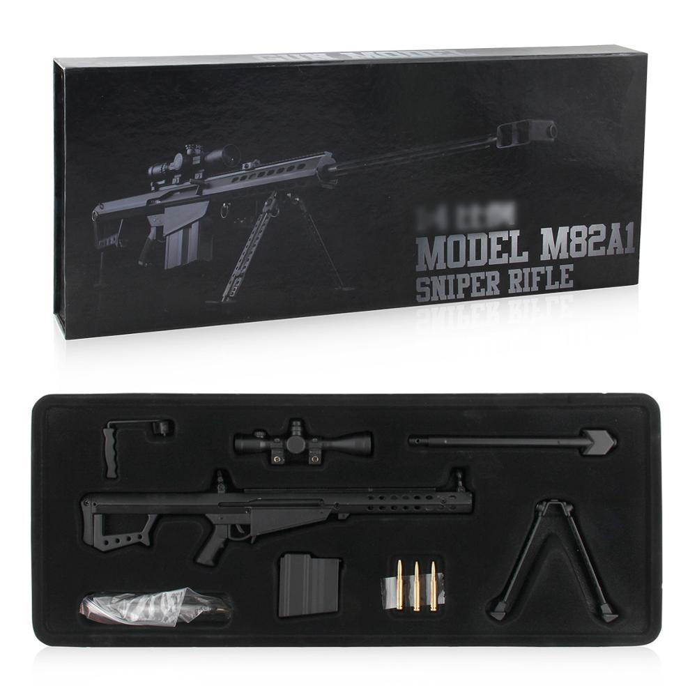 Mini Weapons Gun Model Alloy Show Gun Metal Gun Toys Barrett Sniper Rifle
