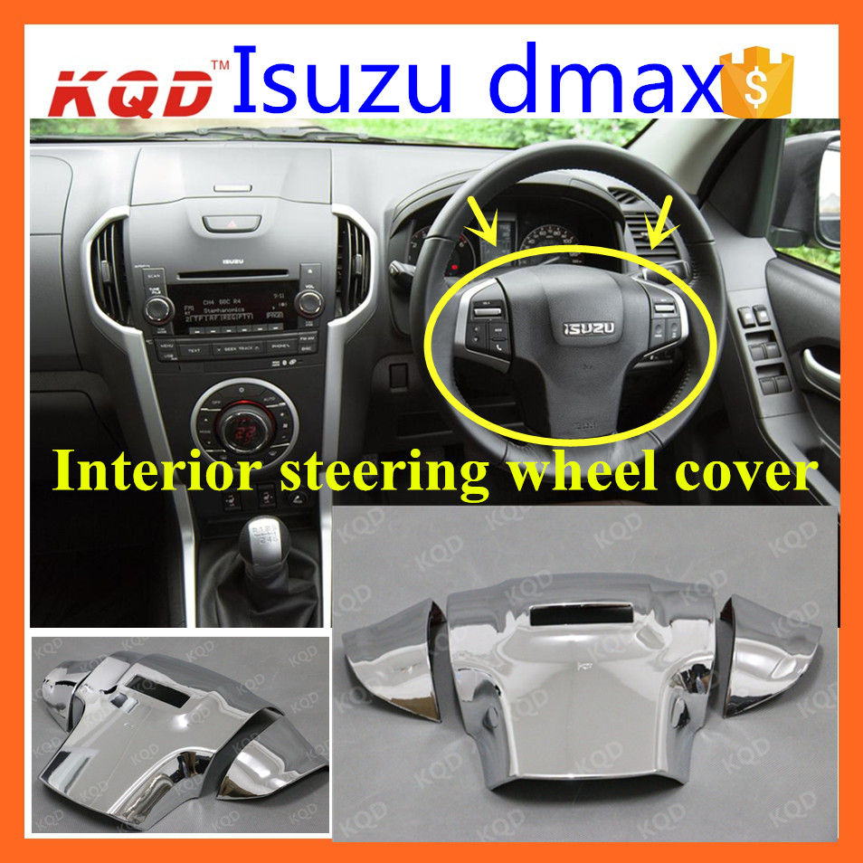 car airbag covers for 2016 dmax Car Steering Wheel Airbag Cover chrome Car Driver Airbag Covers for dmax accessories 2015 dmax