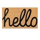 Personalised adhesive-protective feature coco coir hello door mat