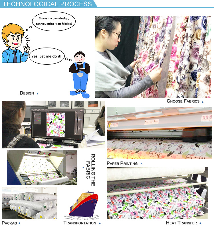 Tear-Resistant digital printed poly printing textile on fabric