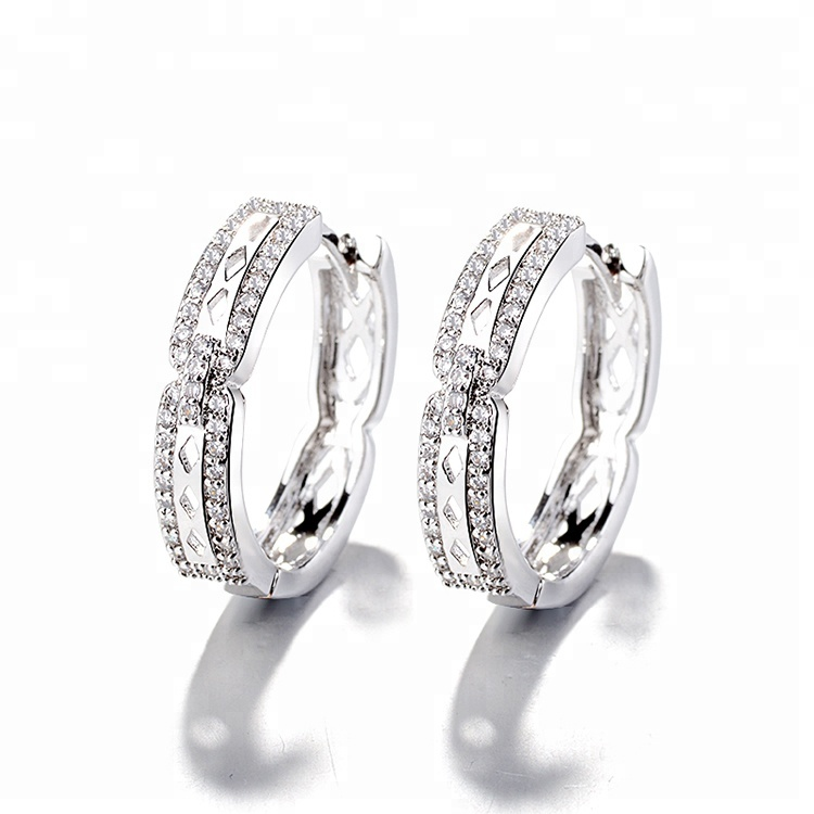 DTINA Jewelry Platinum-plated Women's Elegant Earrings