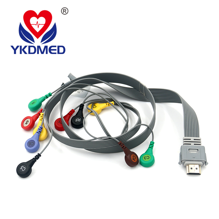 Compatible biocare IH-12PLUS 10 lead  holter ecg cable